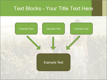 Girl in field PowerPoint Template - Slide 70