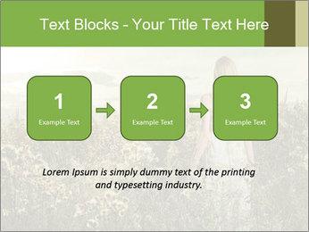 Girl in field PowerPoint Template - Slide 71