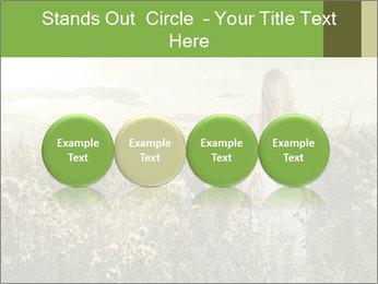 Girl in field PowerPoint Template - Slide 76