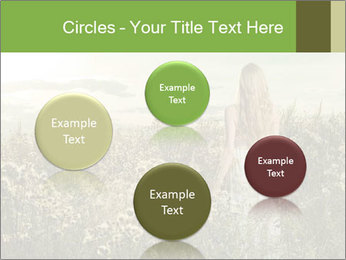 Girl in field PowerPoint Template - Slide 77
