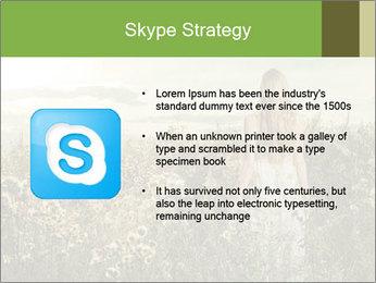 Girl in field PowerPoint Template - Slide 8