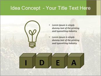 Girl in field PowerPoint Template - Slide 80