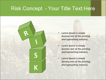 Girl in field PowerPoint Template - Slide 81