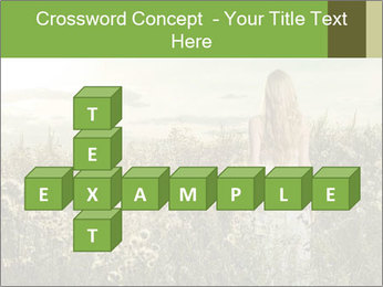 Girl in field PowerPoint Template - Slide 82