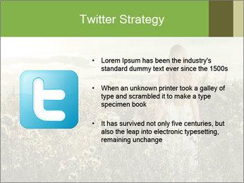 Girl in field PowerPoint Template - Slide 9