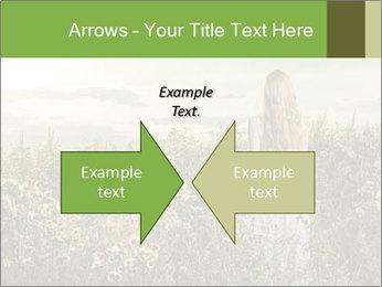 Girl in field PowerPoint Template - Slide 90