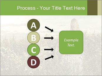 Girl in field PowerPoint Template - Slide 94