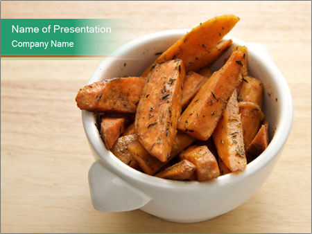 A bowl of baked PowerPoint Template