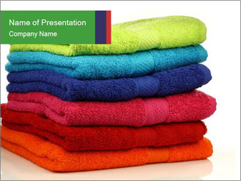 Colorful towels PowerPoint Template - Slide 1