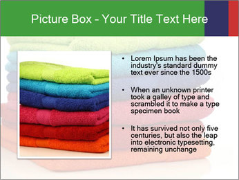 Colorful towels PowerPoint Template - Slide 13