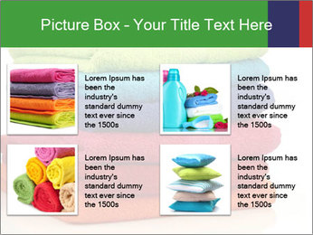 Colorful towels PowerPoint Template - Slide 14
