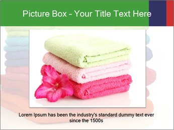 Colorful towels PowerPoint Template - Slide 16