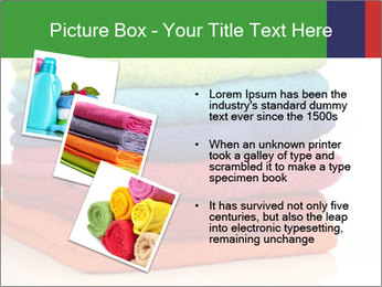 Colorful towels PowerPoint Template - Slide 17