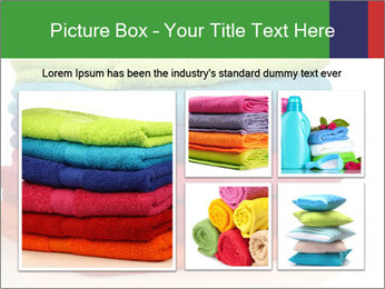 Colorful towels PowerPoint Template - Slide 19