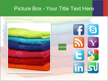 Colorful towels PowerPoint Template - Slide 21