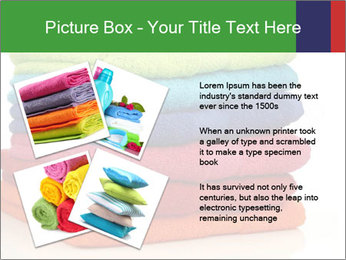 Colorful towels PowerPoint Template - Slide 23