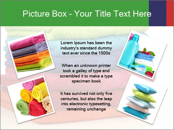 Colorful towels PowerPoint Template - Slide 24