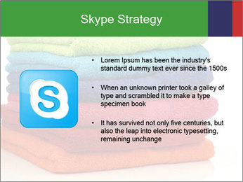 Colorful towels PowerPoint Template - Slide 8