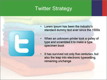 Colorful towels PowerPoint Template - Slide 9