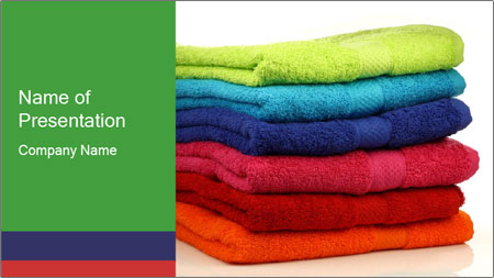 Colorful towels PowerPoint Template