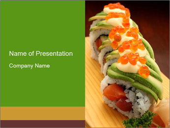 Sushi PowerPoint Template - Slide 1
