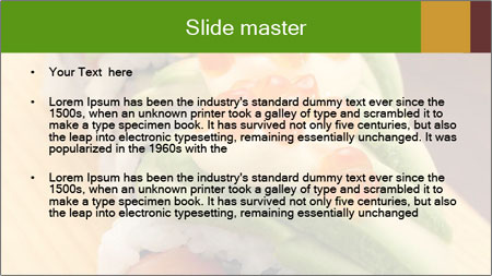 Sushi PowerPoint Template - Slide 2