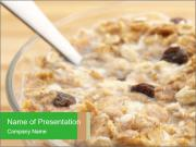 Muesli with milk PowerPoint Templates