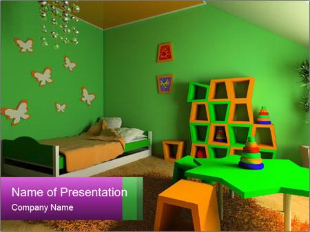 Children's room PowerPoint Template