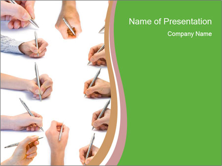 Collection of hands PowerPoint Template