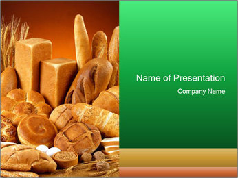Variety of bread PowerPoint Template - Slide 1