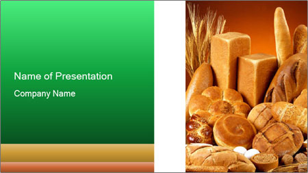 Variety of bread PowerPoint Template