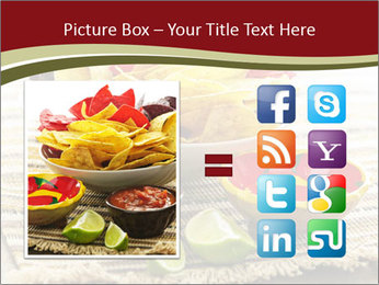 Bowl of salsa PowerPoint Template - Slide 21