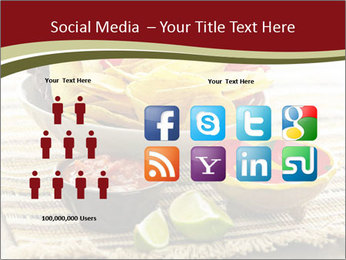 Bowl of salsa PowerPoint Template - Slide 5