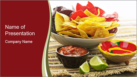 Bowl of salsa PowerPoint Template