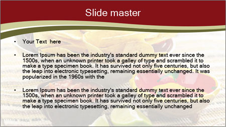 Bowl of salsa PowerPoint Template - Slide 2