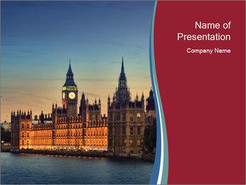 London Parliament PowerPoint Templates - Slide 1