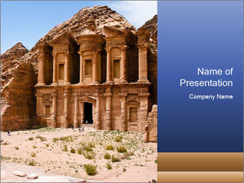 Ancient temple PowerPoint Template - Slide 1