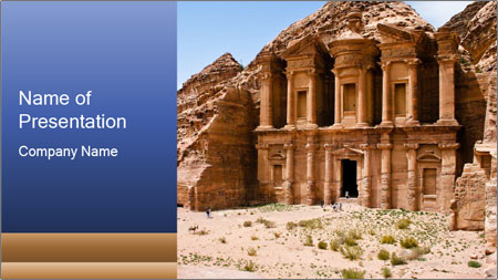 Ancient temple PowerPoint Template