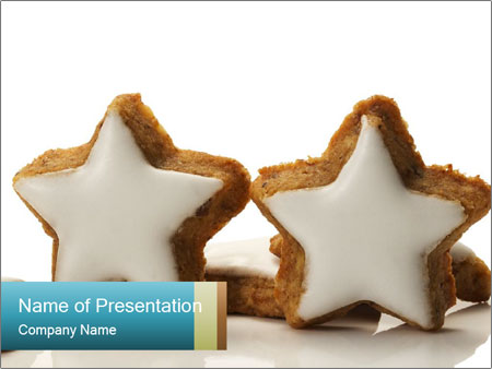 Two standing star PowerPoint Template