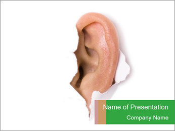 Peeping out PowerPoint Template - Slide 1