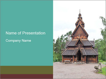 Old church PowerPoint Template - Slide 1