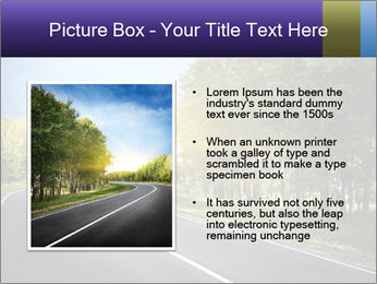 Empty curved road PowerPoint Template - Slide 13