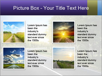 Empty curved road PowerPoint Template - Slide 14