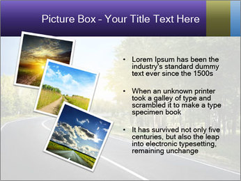 Empty curved road PowerPoint Template - Slide 17