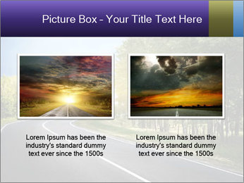 Empty curved road PowerPoint Template - Slide 18