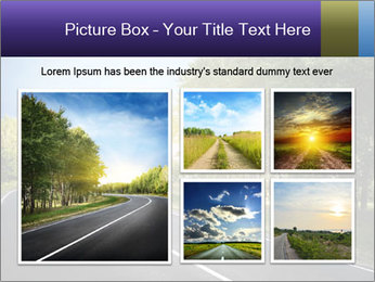 Empty curved road PowerPoint Template - Slide 19