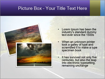 Empty curved road PowerPoint Template - Slide 20