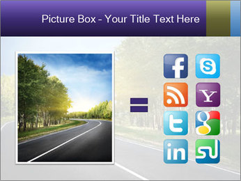 Empty curved road PowerPoint Template - Slide 21