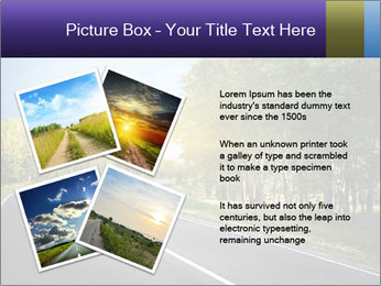 Empty curved road PowerPoint Template - Slide 23