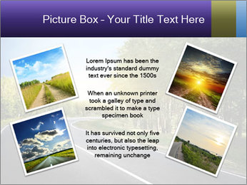Empty curved road PowerPoint Template - Slide 24